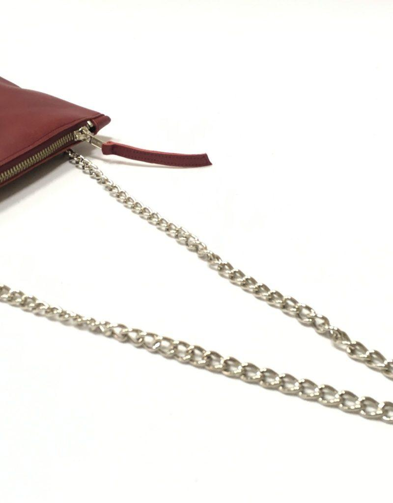Cartera mini con cadena Granate
